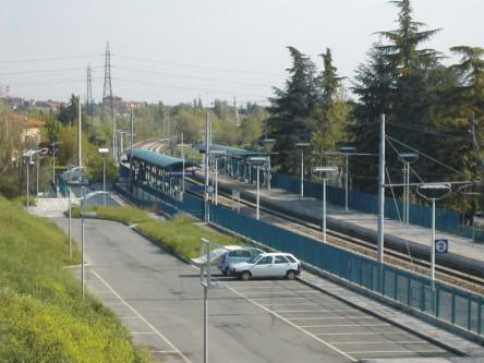 stazione di Casteldebole dall'alto