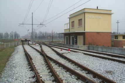 la vecchia stazione di Via Lunga